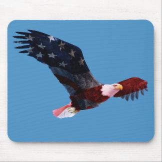 Weißkopfseeadler-Flagge Mousepad