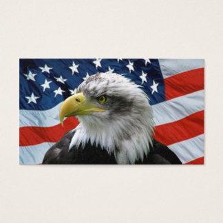 Weißkopfseeadler-Flagge-Visitenkarte Visitenkarte