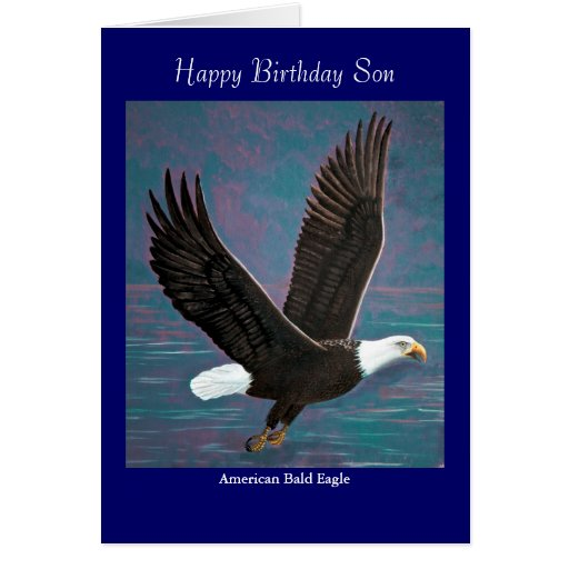 Weißkopfseeadler-Geburtstags-Karte