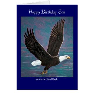 Weißkopfseeadler-Geburtstags-Karte Grußkarte