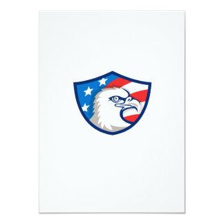 Weißkopfseeadler Haupt-USA-Flaggen-Schild Retro 11,4 X 15,9 Cm Einladungskarte