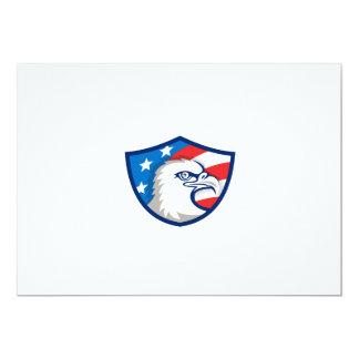 Weißkopfseeadler Haupt-USA-Flaggen-Schild Retro 12,7 X 17,8 Cm Einladungskarte