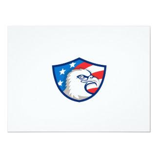 Weißkopfseeadler Haupt-USA-Flaggen-Schild Retro 16,5 X 22,2 Cm Einladungskarte