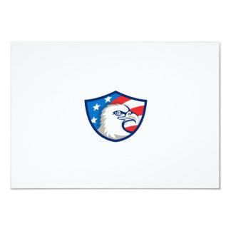 Weißkopfseeadler Haupt-USA-Flaggen-Schild Retro 8,9 X 12,7 Cm Einladungskarte