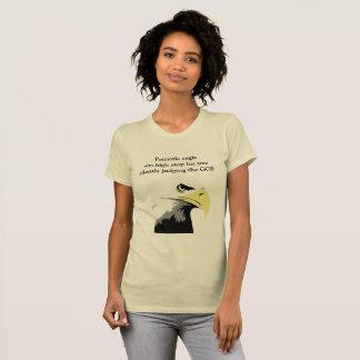 Weißkopfseeadler-Kommentar auf moderner Politik T-Shirt