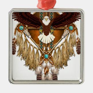 Weißkopfseeadler-Mandala - verbessert Silbernes Ornament