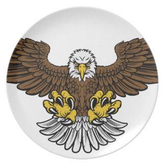 Weißkopfseeadler-Maskottchen Teller