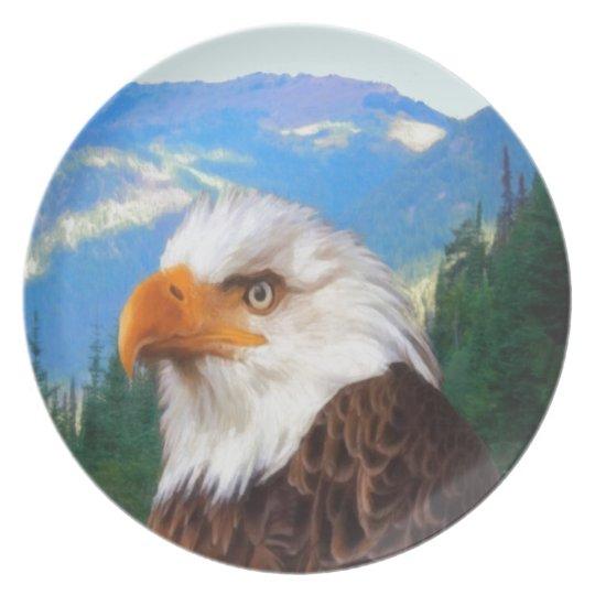 Weißkopfseeadler-Melamin-Platte Teller