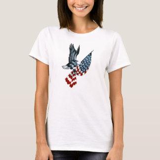 Weißkopfseeadler mit amerikanischer Flagge T-Shirt