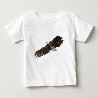 Weißkopfseeadler mit Flügeln auf unten streichen Baby T-shirt