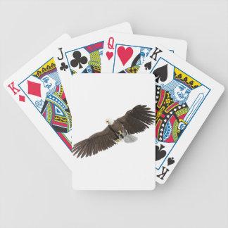 Weißkopfseeadler mit Flügeln auf unten streichen Bicycle Spielkarten