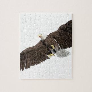 Weißkopfseeadler mit Flügeln auf unten streichen Puzzle