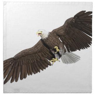 Weißkopfseeadler mit Flügeln auf unten streichen Stoffserviette