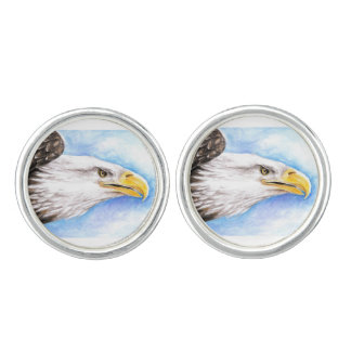 Weißkopfseeadler-Profil Manschettenknöpfe