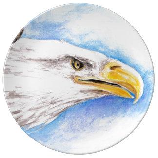 Weißkopfseeadler-Profil Teller