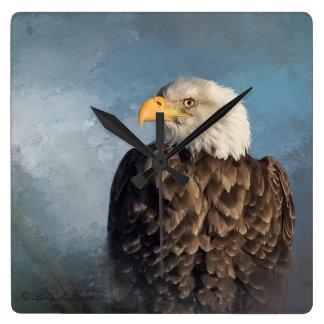 Weißkopfseeadler Quadratische Wanduhr