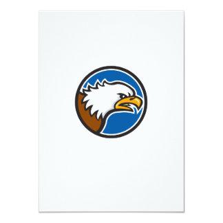 Weißkopfseeadler-schreiender Hauptkreis Retro 11,4 X 15,9 Cm Einladungskarte