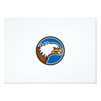 Weißkopfseeadler-schreiender Hauptkreis Retro 12,7 X 17,8 Cm Einladungskarte