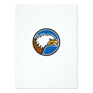 Weißkopfseeadler-schreiender Hauptkreis Retro 14 X 19,5 Cm Einladungskarte