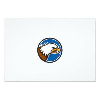 Weißkopfseeadler-schreiender Hauptkreis Retro 8,9 X 12,7 Cm Einladungskarte