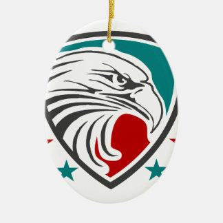 Weißkopfseeadler-Sicherheit und Schutz Keramik Ornament