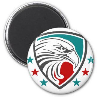 Weißkopfseeadler-Sicherheit und Schutz Runder Magnet 5,7 Cm