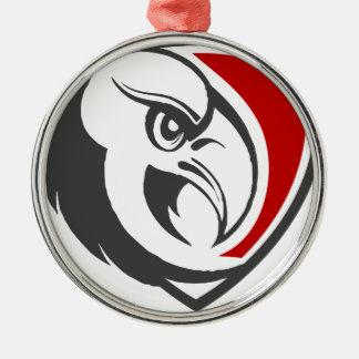 Weißkopfseeadler-Stolz Rundes Silberfarbenes Ornament