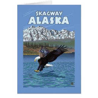 Weißkopfseeadler-Tauchen - Skagway, Alaska Karte
