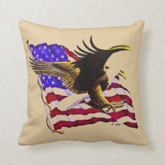 Weißkopfseeadler u. Flagge Kissen