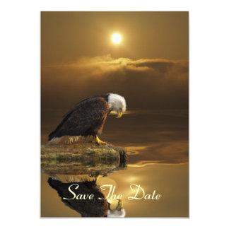 Weißkopfseeadler u. goldene 11,4 x 15,9 cm einladungskarte