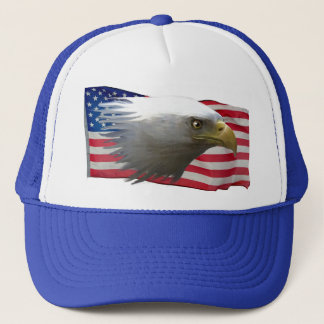 Weißkopfseeadler u. USA-Flaggen-patriotischer Hut Truckerkappe