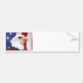 Weißkopfseeadler und amerikanische Flagge Autoaufkleber