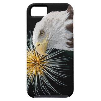 Weißkopfseeadler und Feuerwerke iPhone 5 Hülle