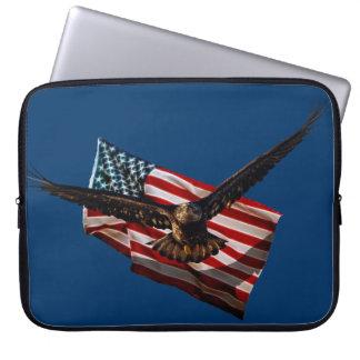 Weißkopfseeadler USA-patriotische Laptopschutzhülle