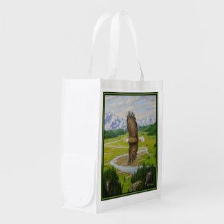 Weißkopfseeadler Wiederverwendbare Einkaufstasche