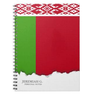 Weißrussland-Flagge Notizblock