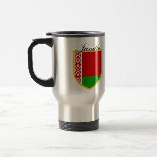 Weißrussland-Flagge personalisiert Reisebecher