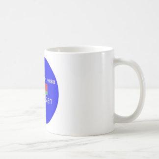 Weißrussland-Flagge und Sprachentwurf Kaffeetasse