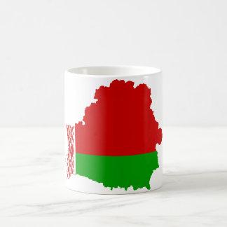 Weißrussland-Flaggenkarte VORBEI Kaffeetasse