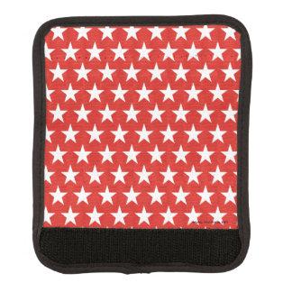 Weißsterne auf rotem Hintergrund Gepäckgriff Marker