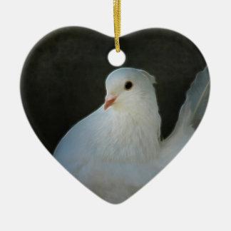 Weißtauben-Friedenssymbol Keramik Ornament