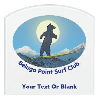 Weißwal-Punkt-Brandungs-Verein Türschild