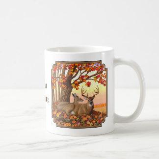 Weißwedelhirsch-Herbst-Ahornbaum Kaffeetasse