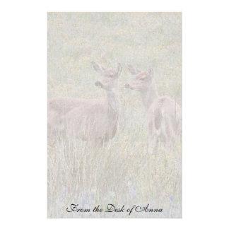 Weißwedelhirsch-Tier-Tier-Wiesen-Briefpapier Briefpapier