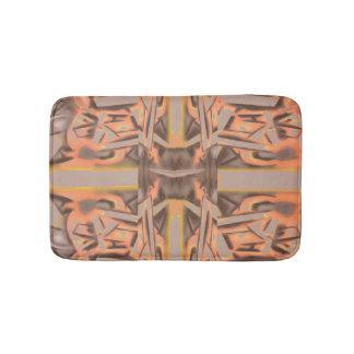 Weit heraus in orange und grauem abstraktem badematte