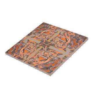 Weit heraus in orange und grauem abstraktem keramikfliese