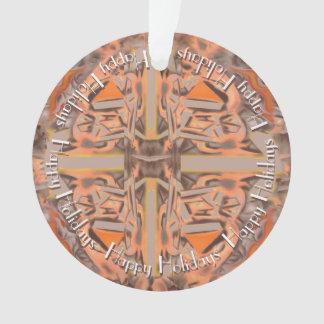 Weit heraus in orange und grauem abstraktem ornament