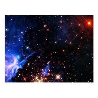 Weit weg Galaxie Postkarten