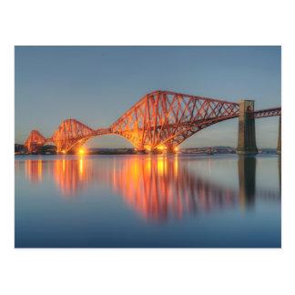 Weiter Brücken-Sonnenuntergang Postkarte