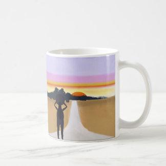Weiter Weg voran Kaffeetasse